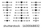 dividers with heart and arrow...   Shutterstock .eps vector #1630068832