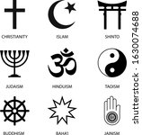 religious signs and symbols.... | Shutterstock .eps vector #1630074688