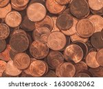 Background Full Of Euro Cents ...