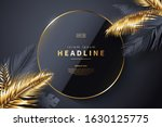 luxury black background with... | Shutterstock .eps vector #1630125775
