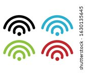 wireless and wifi icons.... | Shutterstock .eps vector #1630135645