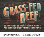 grass fed beef custom signage... | Shutterstock .eps vector #1630139425
