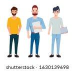 teamwork of businessman people...   Shutterstock .eps vector #1630139698