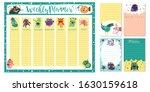 weekly planner funny monsters.... | Shutterstock .eps vector #1630159618