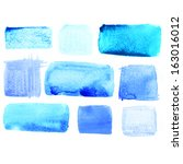 set of watercolor squares  | Shutterstock . vector #163016012