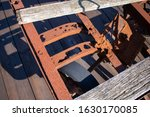 A Rusty Rail Cart On An Old...