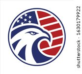 eagle head circle american flag ... | Shutterstock .eps vector #1630179922