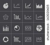 vector black  diagram icons set | Shutterstock .eps vector #163020605