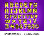 vector real hand drawn letters... | Shutterstock .eps vector #163023008