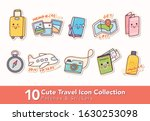 set of cute travel icon patches ... | Shutterstock .eps vector #1630253098