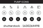 pump icons set. collection of... | Shutterstock .eps vector #1630264498