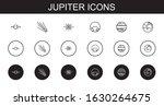 jupiter icons set. collection... | Shutterstock .eps vector #1630264675
