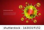 coronaviruses 3d realistic... | Shutterstock .eps vector #1630319152