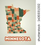 Minnesota Poster In Retro Style....