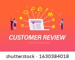 customer review concept with...