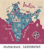 india map  vector flat... | Shutterstock .eps vector #1630386565