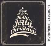 vintage styled christmas card  ... | Shutterstock .eps vector #163038746