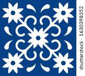 mexican talavera tile pattern.... | Shutterstock .eps vector #1630398352