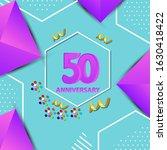 50 years anniversary...   Shutterstock .eps vector #1630418422