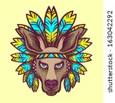 Kangaroo Head Illustration