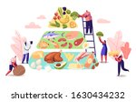 ketogenic diet concept.... | Shutterstock .eps vector #1630434232