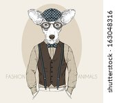 hand drawn fashion illustration ... | Shutterstock .eps vector #163048316