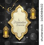 arabic card for ramadan kareem  ... | Shutterstock .eps vector #1630484632