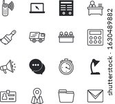 business vector icon set such... | Shutterstock .eps vector #1630489882