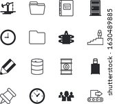 business vector icon set such... | Shutterstock .eps vector #1630489885