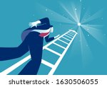 reaching the stars. businessman ... | Shutterstock .eps vector #1630506055