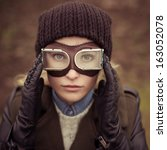 portrait of a beautiful girl... | Shutterstock . vector #163052078