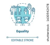 equality concept icon. positive ... | Shutterstock .eps vector #1630542478