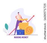 man making money. businessman...