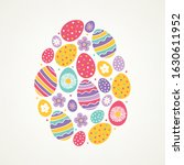 easter greeting card with... | Shutterstock .eps vector #1630611952