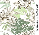 Seamless Pattern With Peonies...