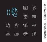 music icons set. music folder...