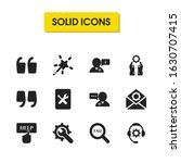 help icons set with click help  ...