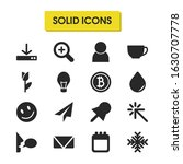 mixed icons set with smile face ...