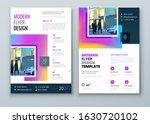 flyer design. modern flyer... | Shutterstock .eps vector #1630720102