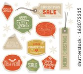 stickers and labels for... | Shutterstock .eps vector #163073315