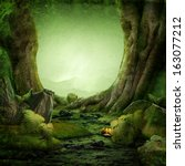 dreamily forest | Shutterstock . vector #163077212