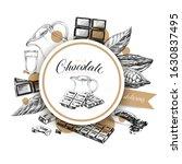 circular frame for chocolate... | Shutterstock .eps vector #1630837495