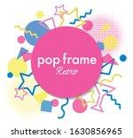 retro modern colorful frame...   Shutterstock .eps vector #1630856965