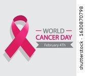 ribbon of world cancer day    Shutterstock .eps vector #1630870798