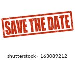 save the date grunge rubber... | Shutterstock .eps vector #163089212