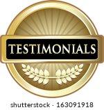 testimonials gold label | Shutterstock .eps vector #163091918
