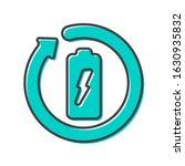 battery recycling vector logo.... | Shutterstock .eps vector #1630935832
