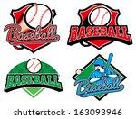 baseball emblem | Shutterstock .eps vector #163093946