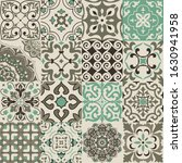 set of 16 colorful tiles... | Shutterstock .eps vector #1630941958