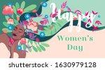 happy women's day  march 8 ... | Shutterstock .eps vector #1630979128